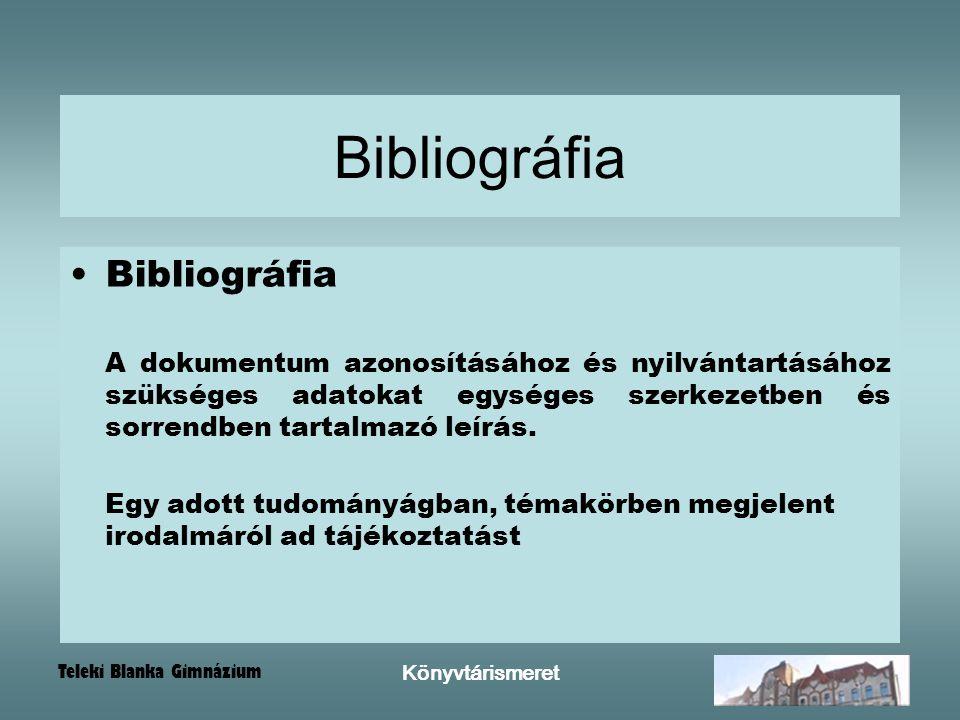 Bibliográfia Bibliográfia