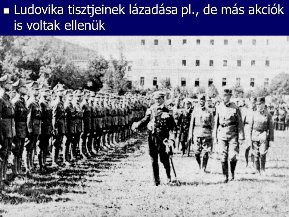 Ludovika tisztjeinek lázadása pl., de más akciók is voltak ellenük