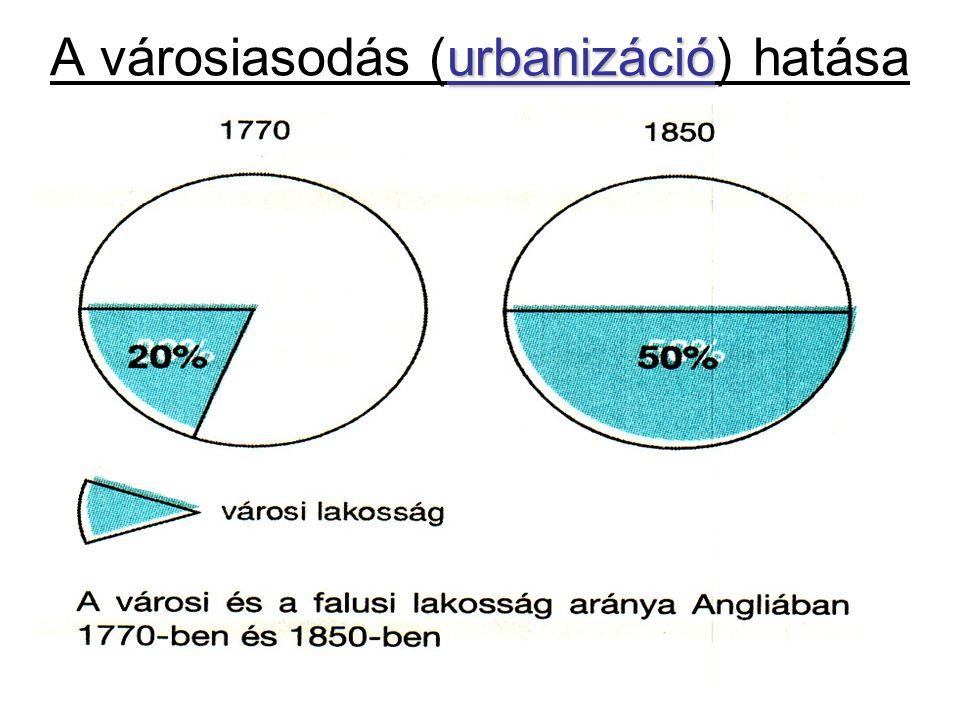 A városiasodás (urbanizáció) hatása