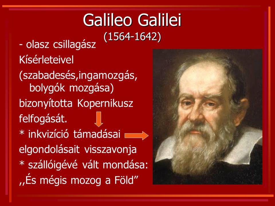 Galileo Galilei (1564-1642) - olasz csillagász Kísérleteivel