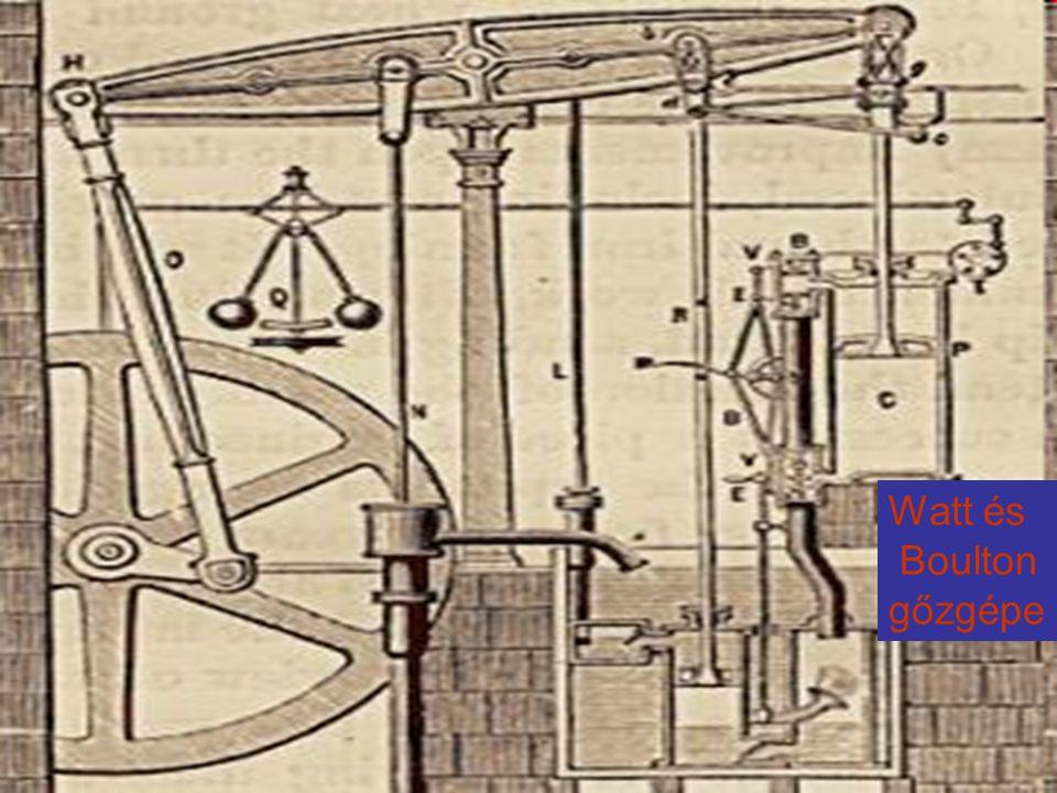 Watt és Boulton gőzgépe