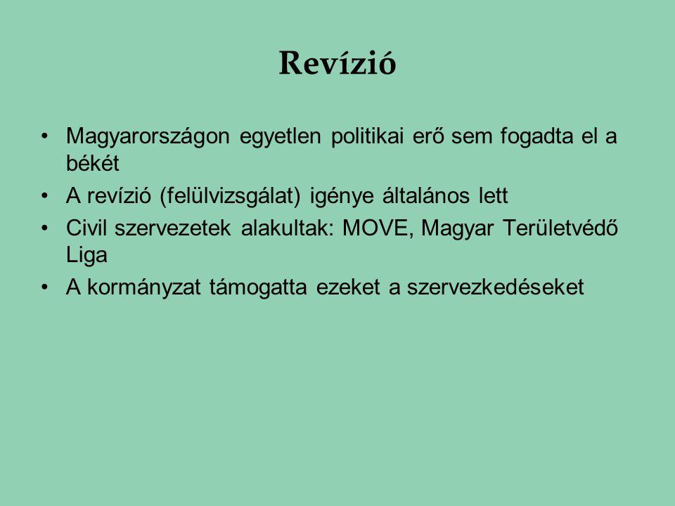 Revízió Magyarországon egyetlen politikai erő sem fogadta el a békét