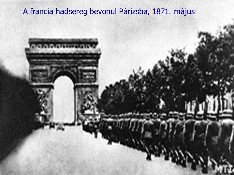 A francia hadsereg bevonul Párizsba, 1871. május