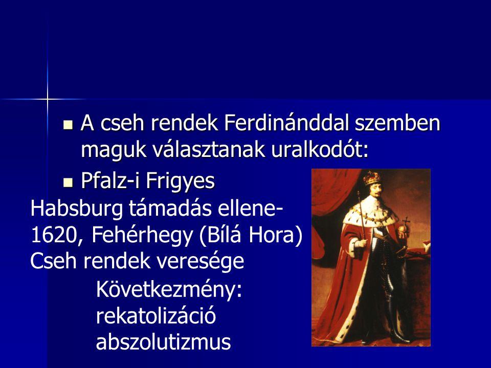 A cseh rendek Ferdinánddal szemben maguk választanak uralkodót: