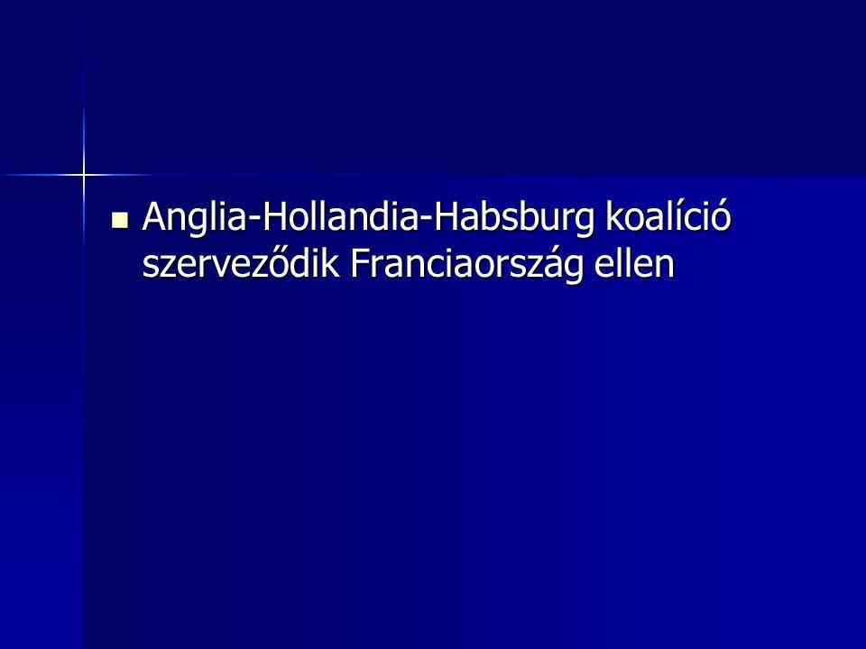Anglia-Hollandia-Habsburg koalíció szerveződik Franciaország ellen