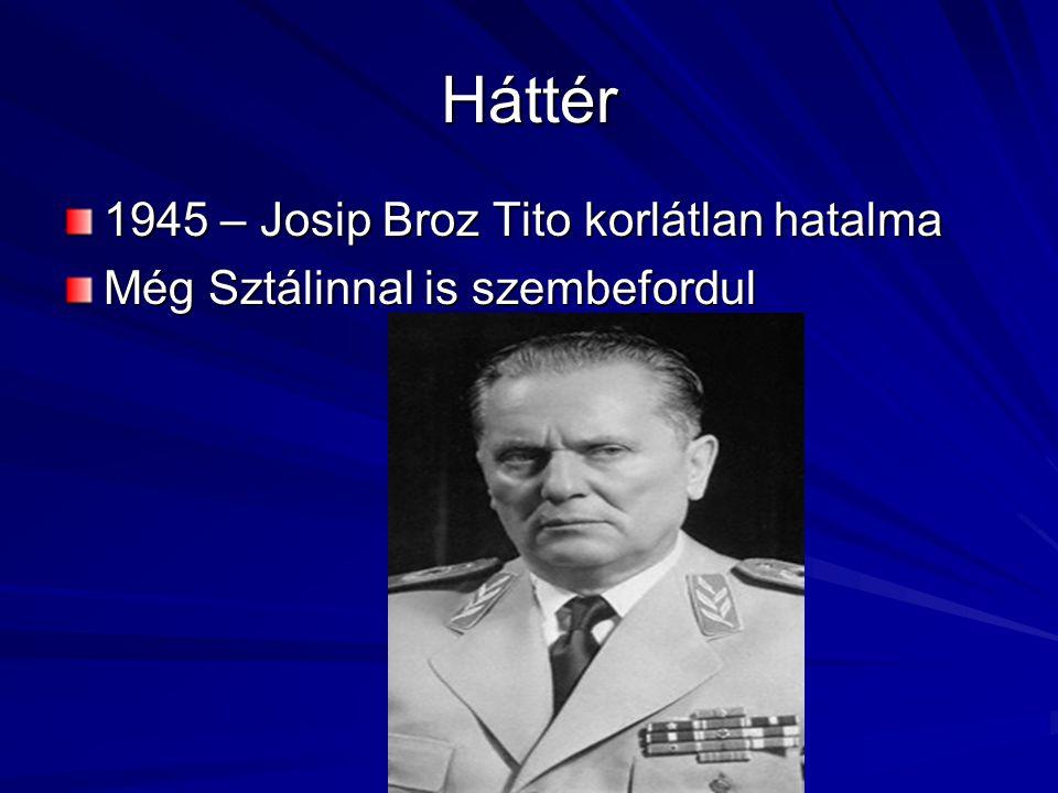Háttér 1945 – Josip Broz Tito korlátlan hatalma