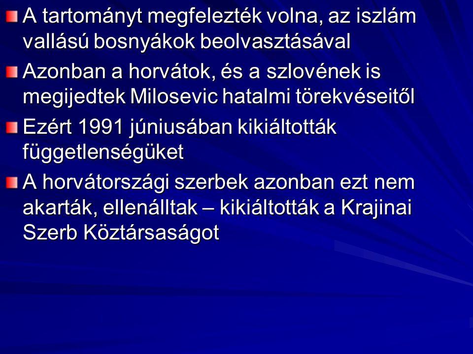 A tartományt megfelezték volna, az iszlám vallású bosnyákok beolvasztásával