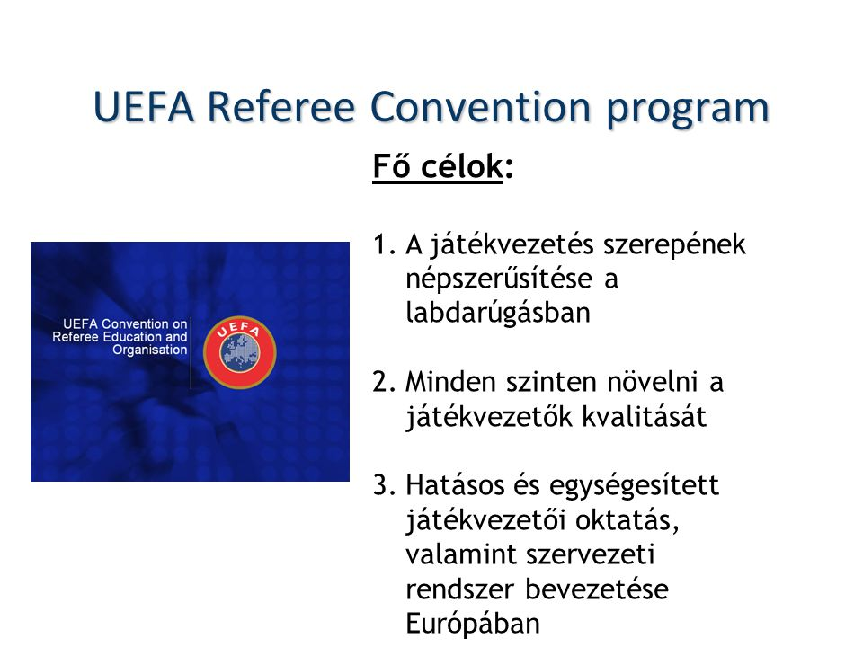 UEFA Referee Convention program
