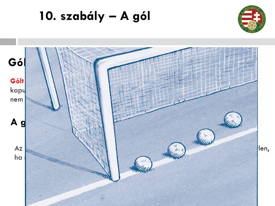 10. szabály – A gól Gólszerzés A győztes csapat