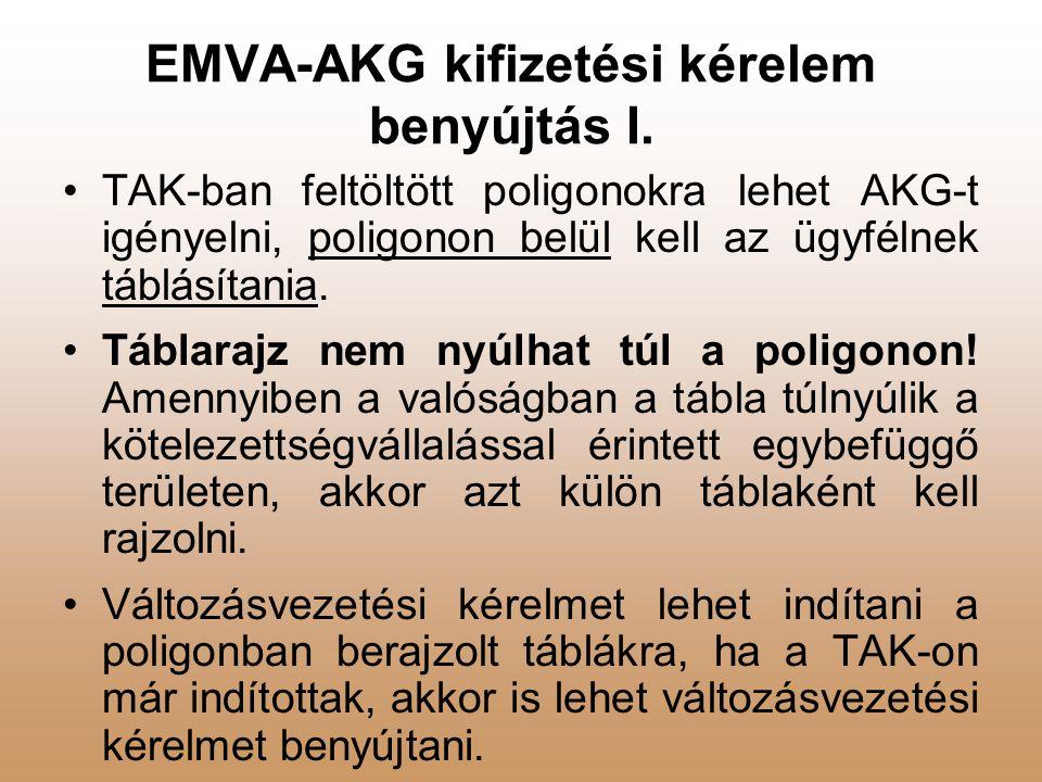 EMVA-AKG kifizetési kérelem benyújtás I.