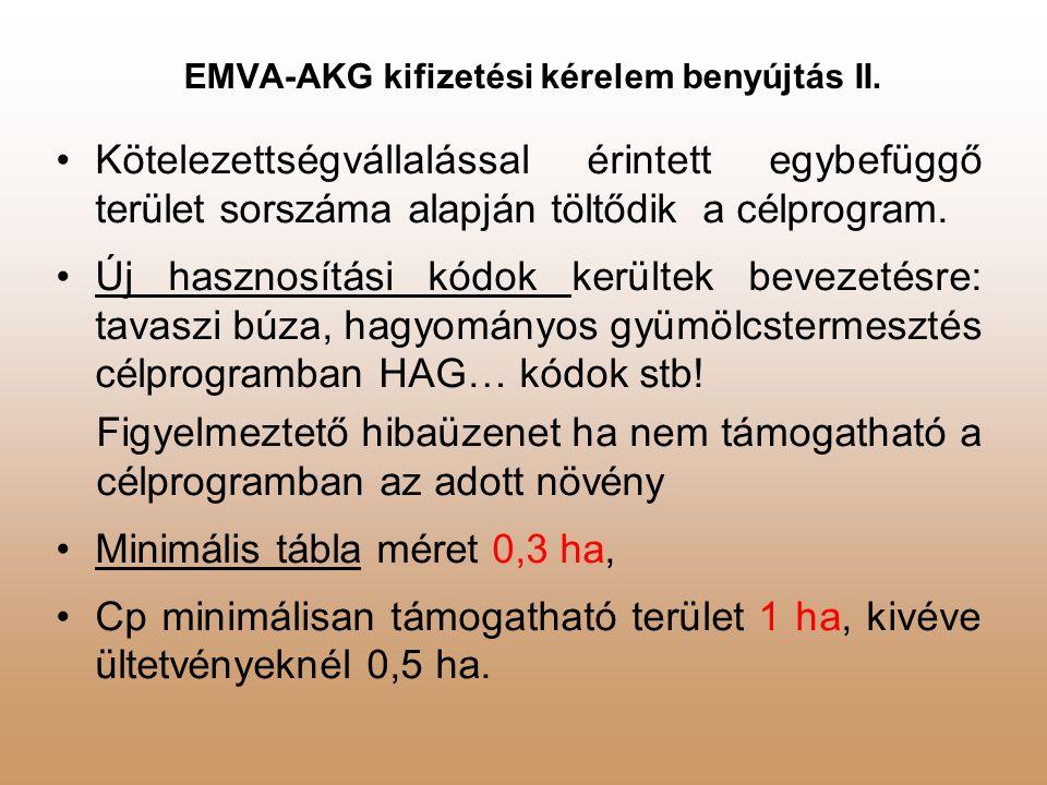 EMVA-AKG kifizetési kérelem benyújtás II.