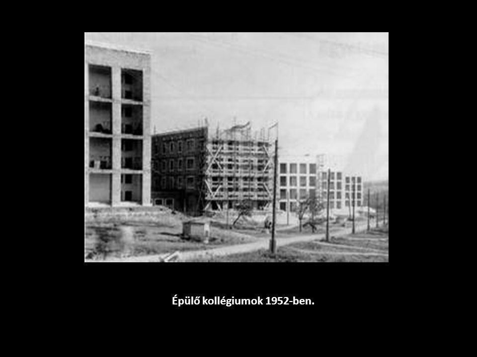 Épülő kollégiumok 1952-ben.