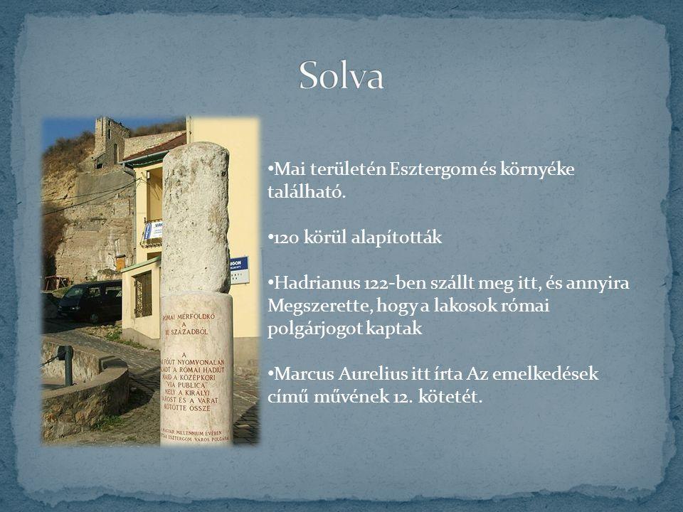 Solva Mai területén Esztergom és környéke található.