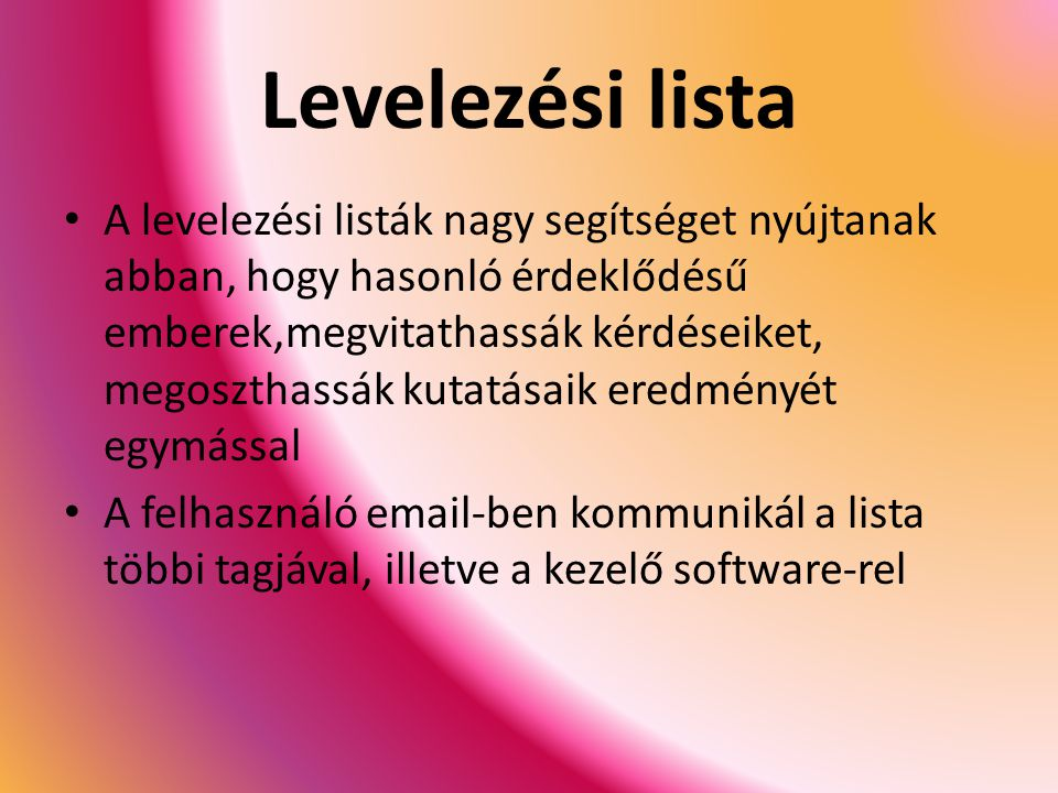 Levelezési lista