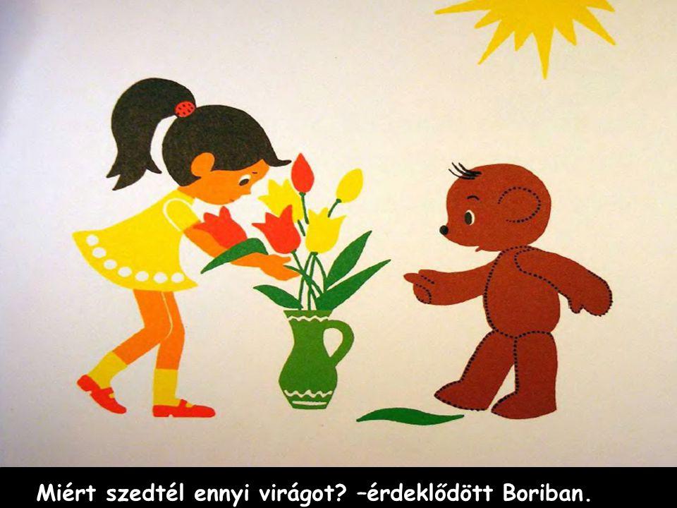 Miért szedtél ennyi virágot –érdeklődött Boriban.