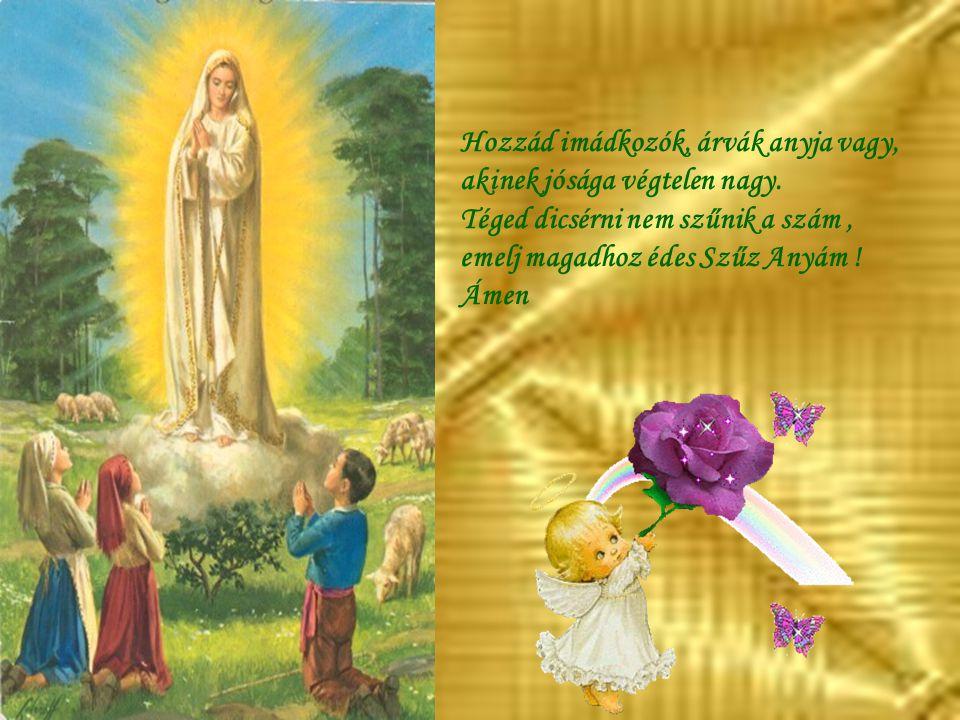 Hozzád imádkozók, árvák anyja vagy, akinek jósága végtelen nagy