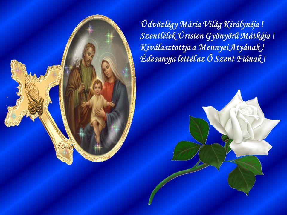 Üdvözlégy Mária Világ Királynéja. Szentlélek Úristen Gyönyörű Mátkája
