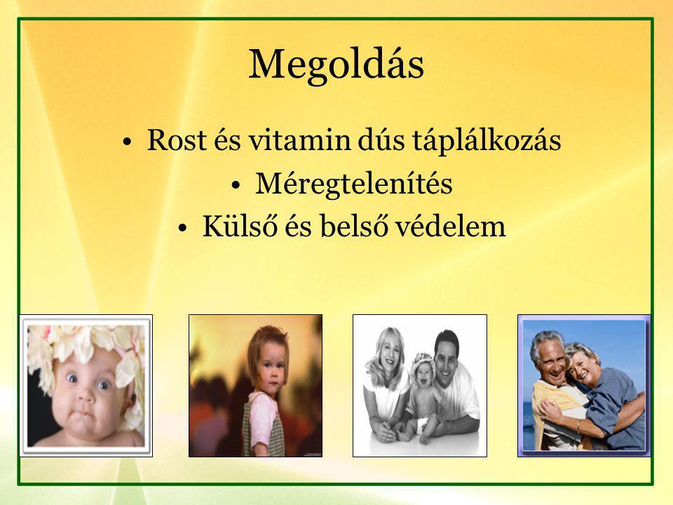 Rost és vitamin dús táplálkozás