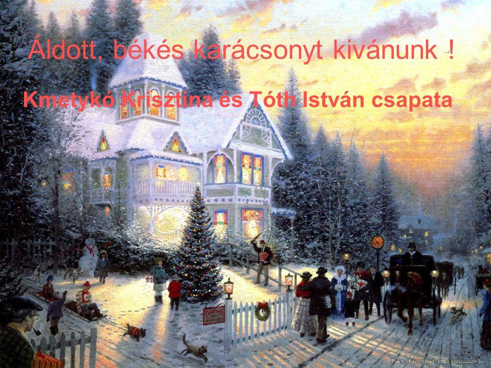 Áldott, békés karácsonyt kivánunk !