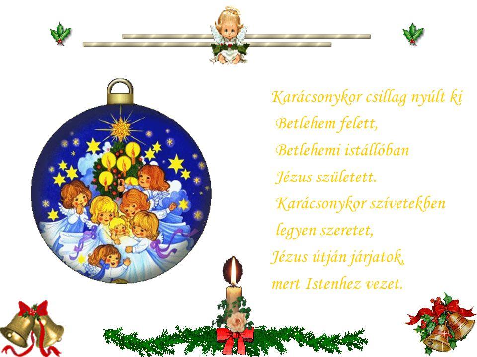 Karácsonykor csillag nyúlt ki