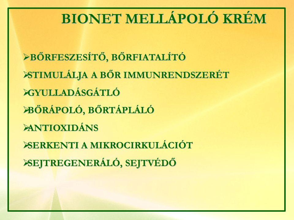 BIONET MELLÁPOLÓ KRÉM BŐRFESZESÍTŐ, BŐRFIATALÍTÓ