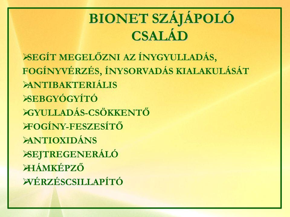BIONET SZÁJÁPOLÓ CSALÁD