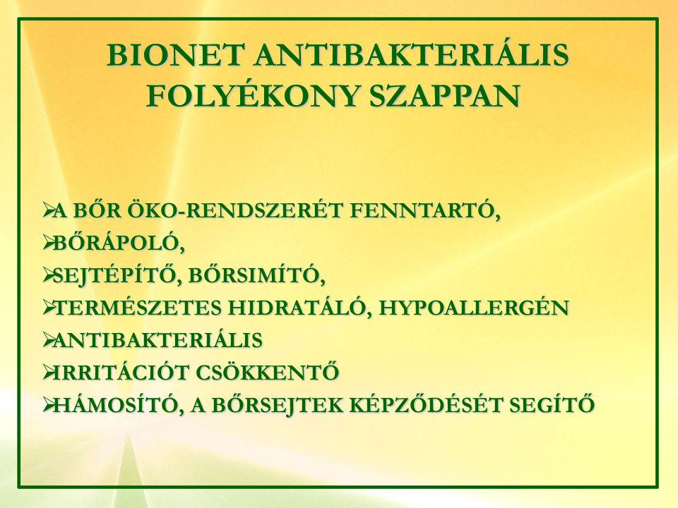 BIONET ANTIBAKTERIÁLIS FOLYÉKONY SZAPPAN