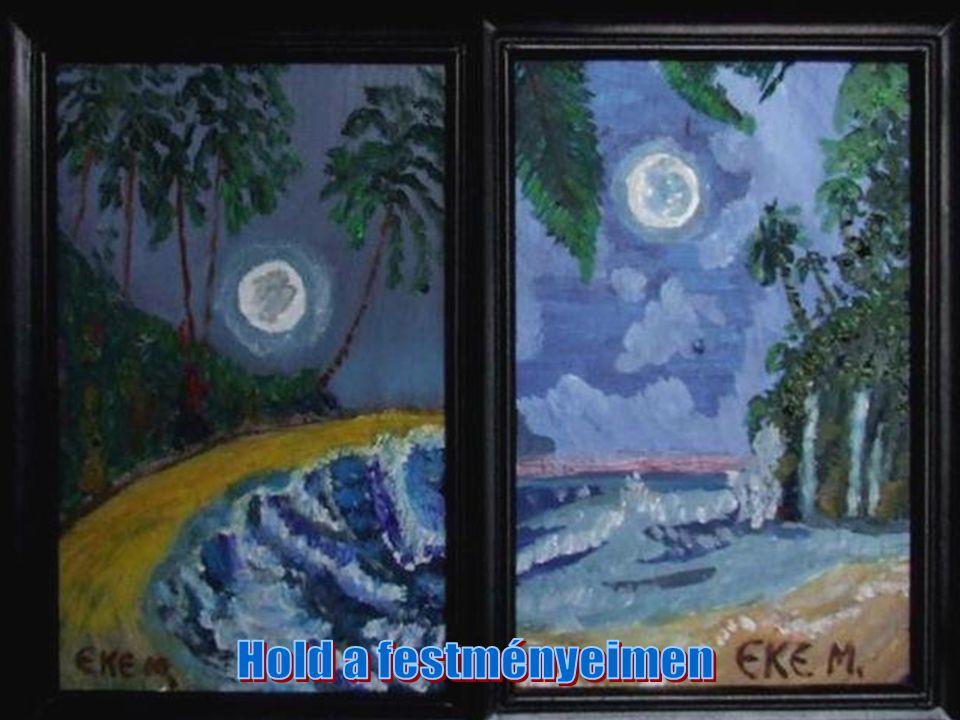 Hold a festményeimen