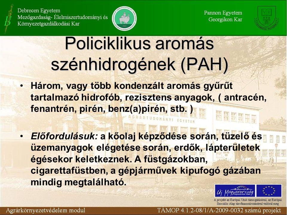 Policiklikus aromás szénhidrogének (PAH)
