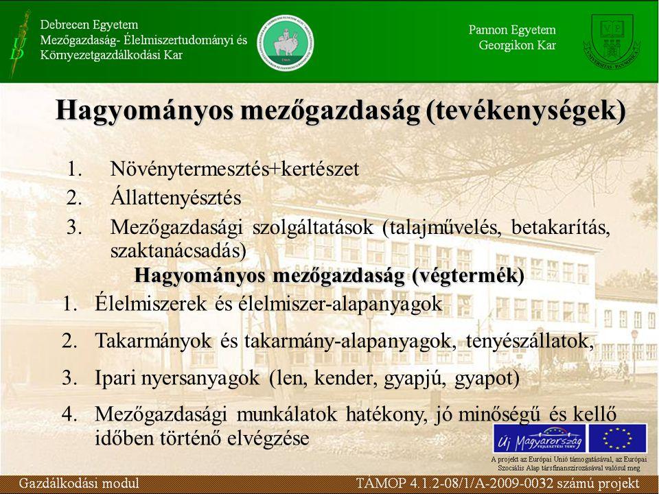 Hagyományos mezőgazdaság (tevékenységek)