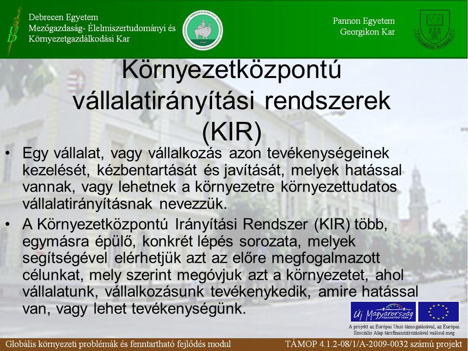 Környezetközpontú vállalatirányítási rendszerek (KIR)