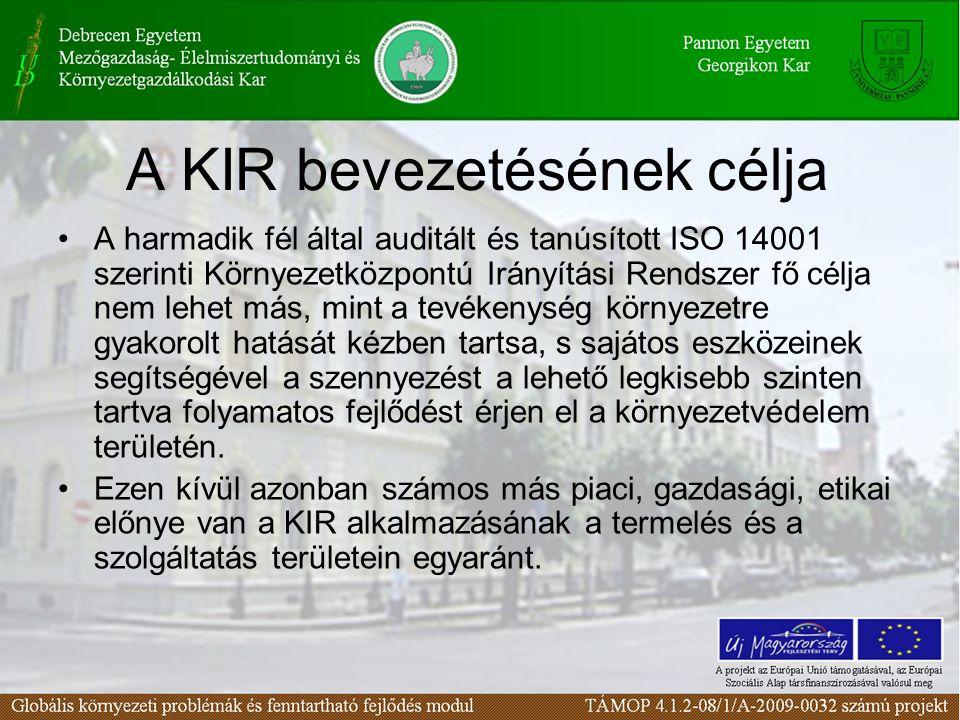 A KIR bevezetésének célja
