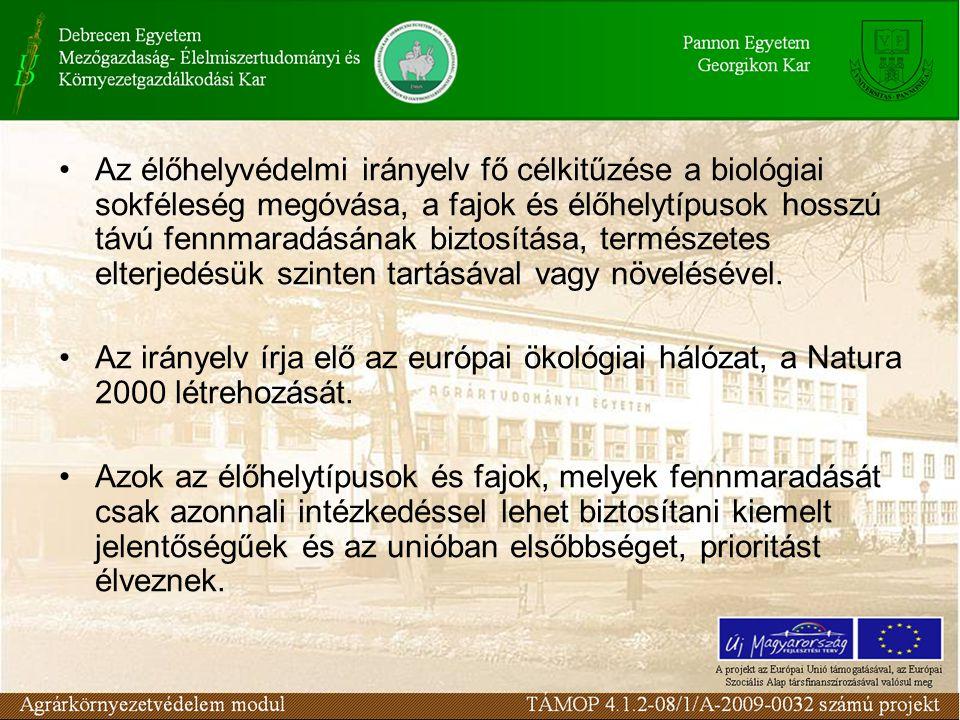 Az élőhelyvédelmi irányelv fő célkitűzése a biológiai sokféleség megóvása, a fajok és élőhelytípusok hosszú távú fennmaradásának biztosítása, természetes elterjedésük szinten tartásával vagy növelésével.