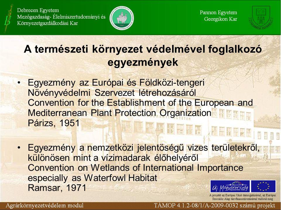 A természeti környezet védelmével foglalkozó egyezmények
