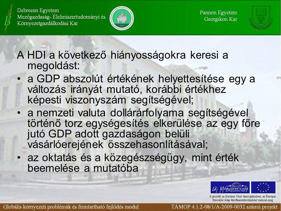 A HDI a következő hiányosságokra keresi a megoldást:
