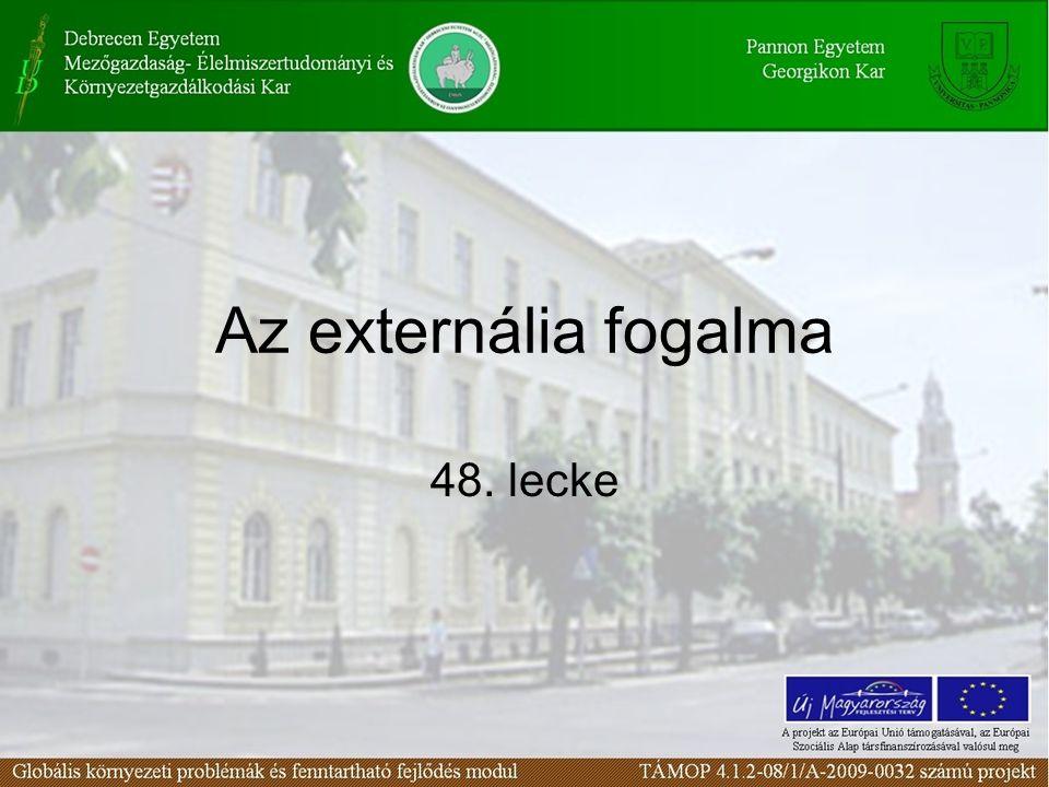 Az externália fogalma 48. lecke