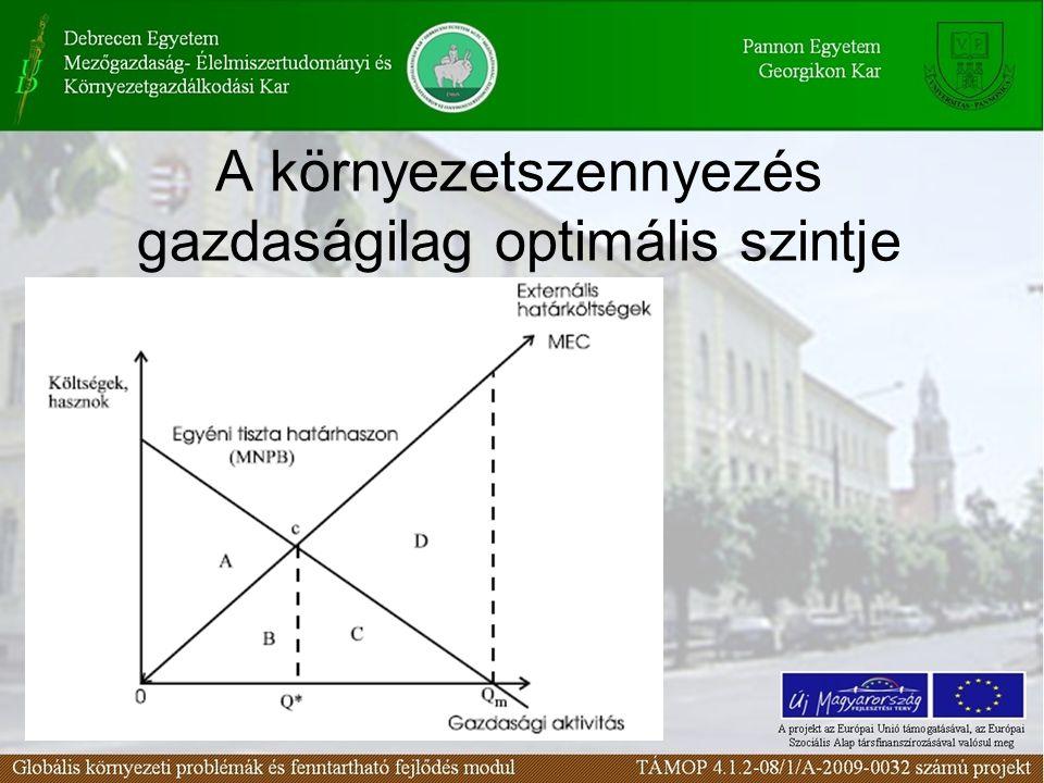 A környezetszennyezés gazdaságilag optimális szintje