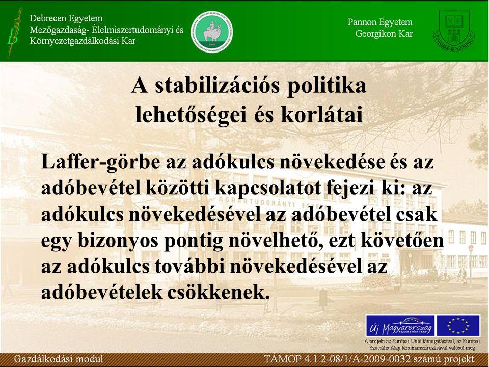 A stabilizációs politika lehetőségei és korlátai