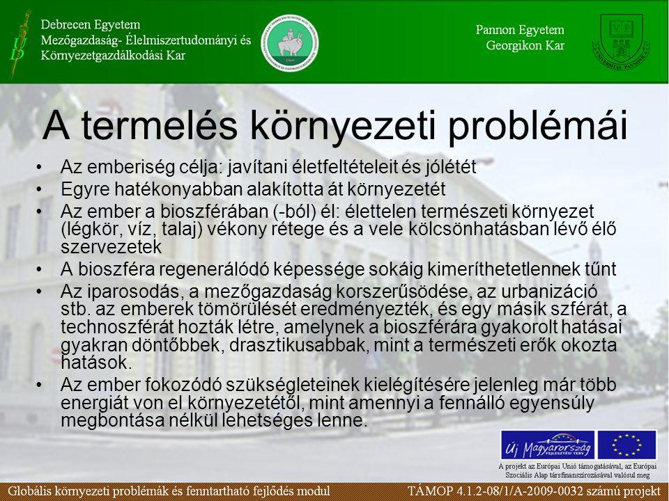 A termelés környezeti problémái