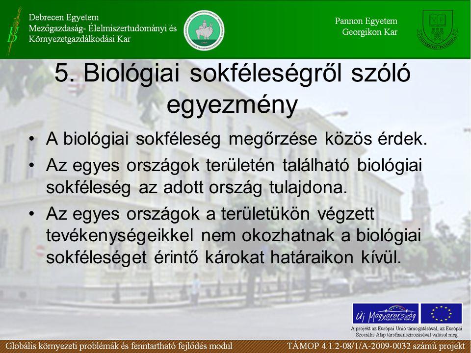 5. Biológiai sokféleségről szóló egyezmény