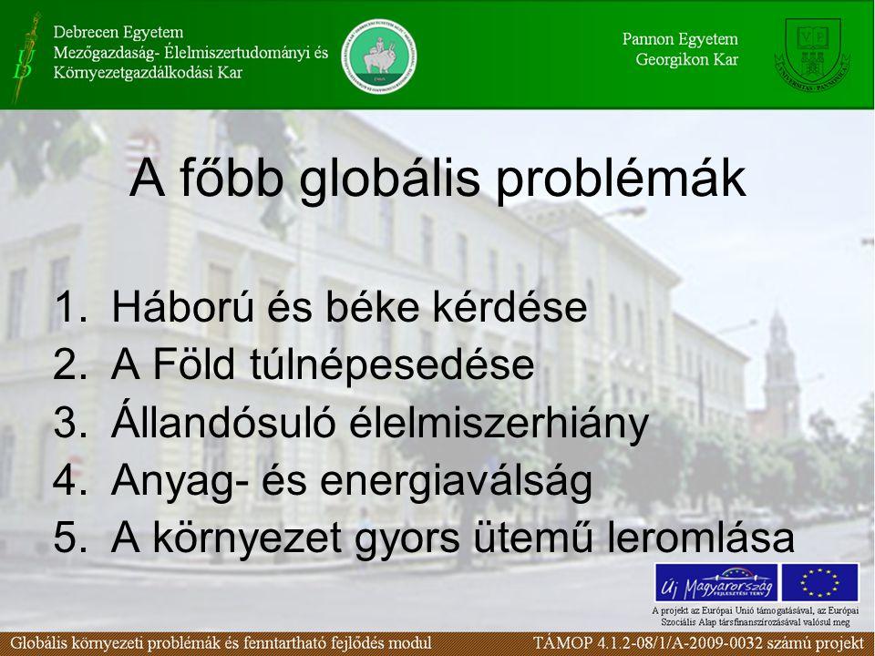 A főbb globális problémák