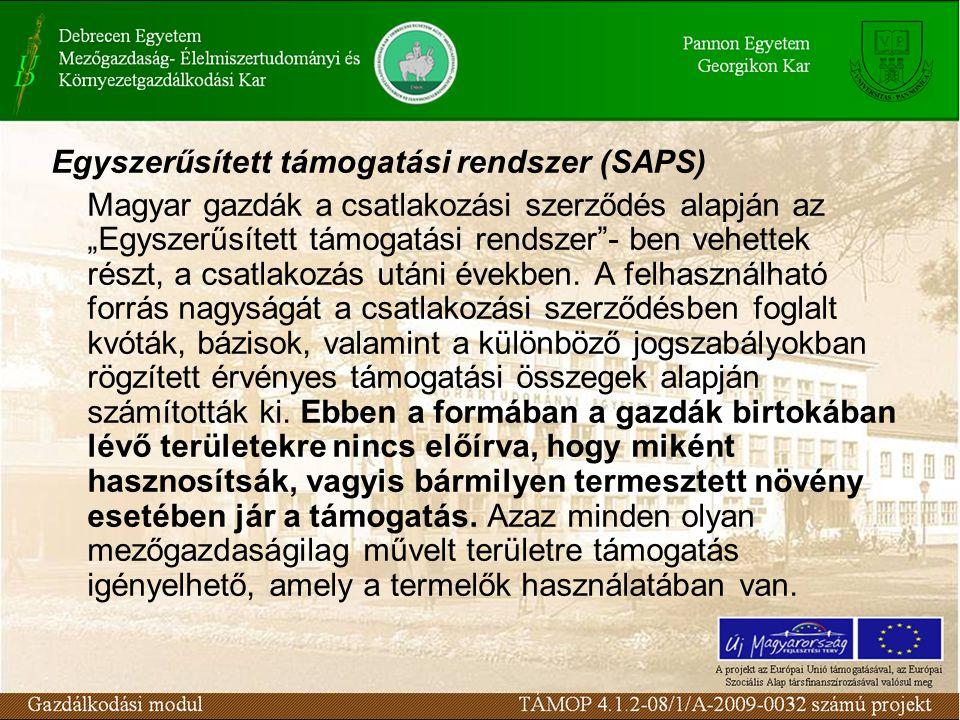 Egyszerűsített támogatási rendszer (SAPS)