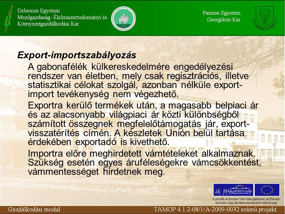 Export-importszabályozás