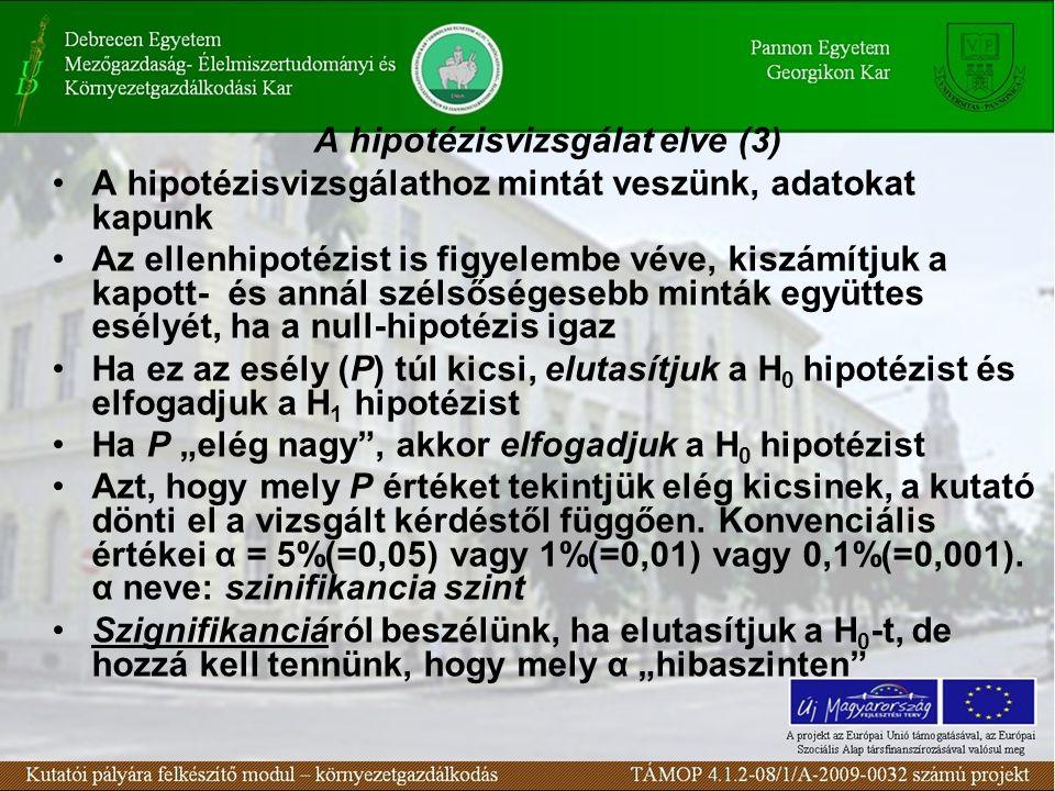 A hipotézisvizsgálat elve (3)