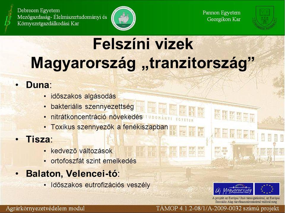 """Felszíni vizek Magyarország """"tranzitország"""