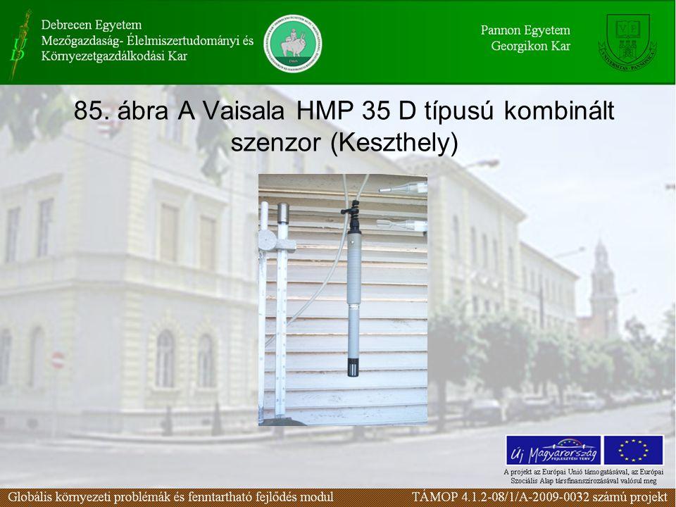 85. ábra A Vaisala HMP 35 D típusú kombinált szenzor (Keszthely)