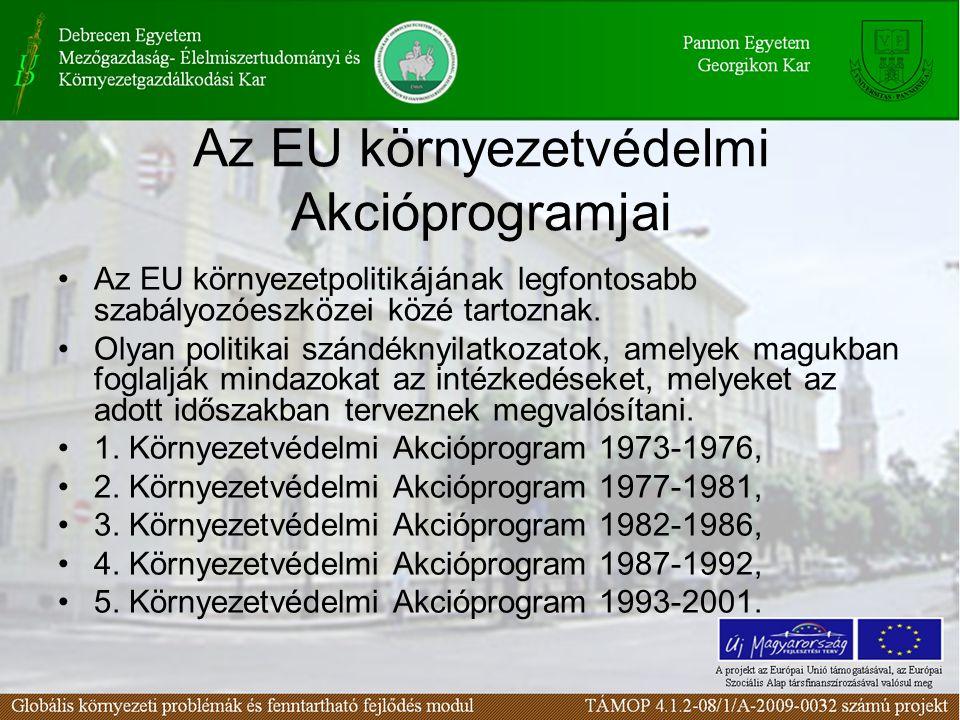 Az EU környezetvédelmi Akcióprogramjai