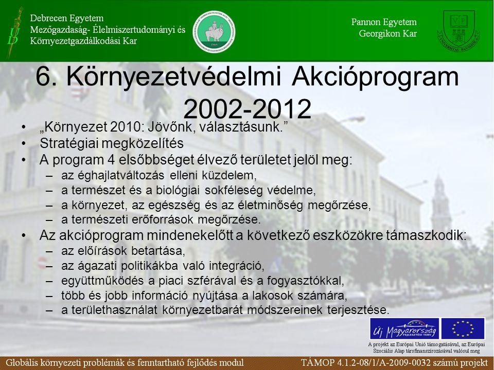 6. Környezetvédelmi Akcióprogram 2002-2012
