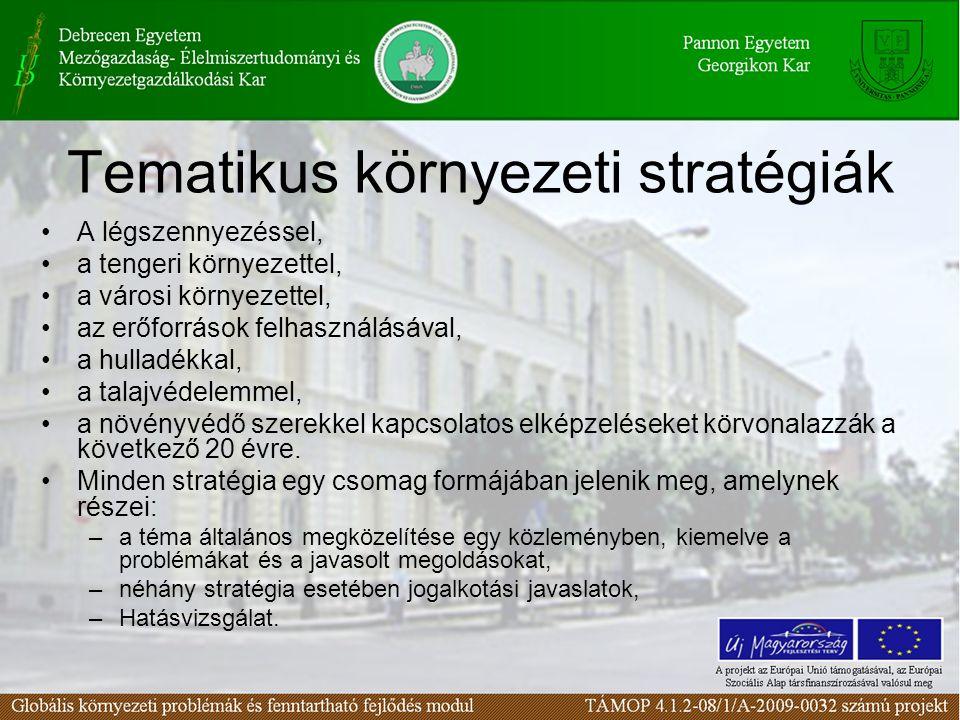 Tematikus környezeti stratégiák