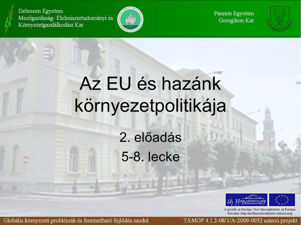 Az EU és hazánk környezetpolitikája